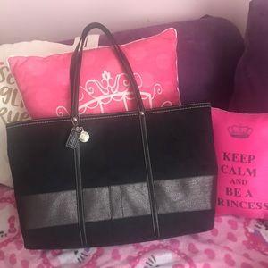 Black Coach tote bag